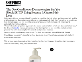 the one conditioner dermatologists say you should stop using because it causes hair loss