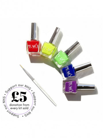 Rainbow Nail Art Kit - Brazilian Soul Beauty PEACCI - Brazilian Soul Beauty