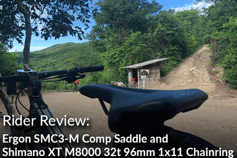Ergon SMC3-M Comp Saddle and Shimano XT M8000 32t 96mm 1x11 Chainring: Rider Review