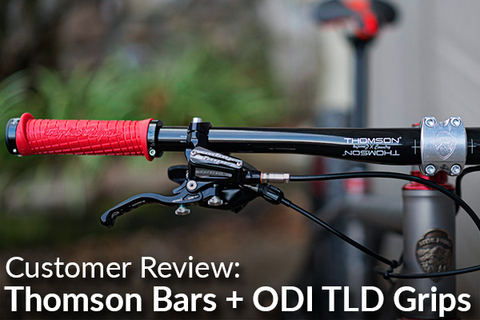 Thomson Carbon XC Handlebars Paired with ODI Troy Lee Designs Grips: Customer Review