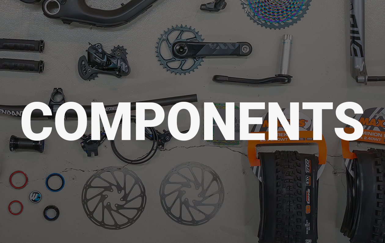 Shop Parts / Components For Mountain Bikes, Gravel Bikes & Road Bikes. Suspension, Drivetrain, Shocks, Tires & Much More...
