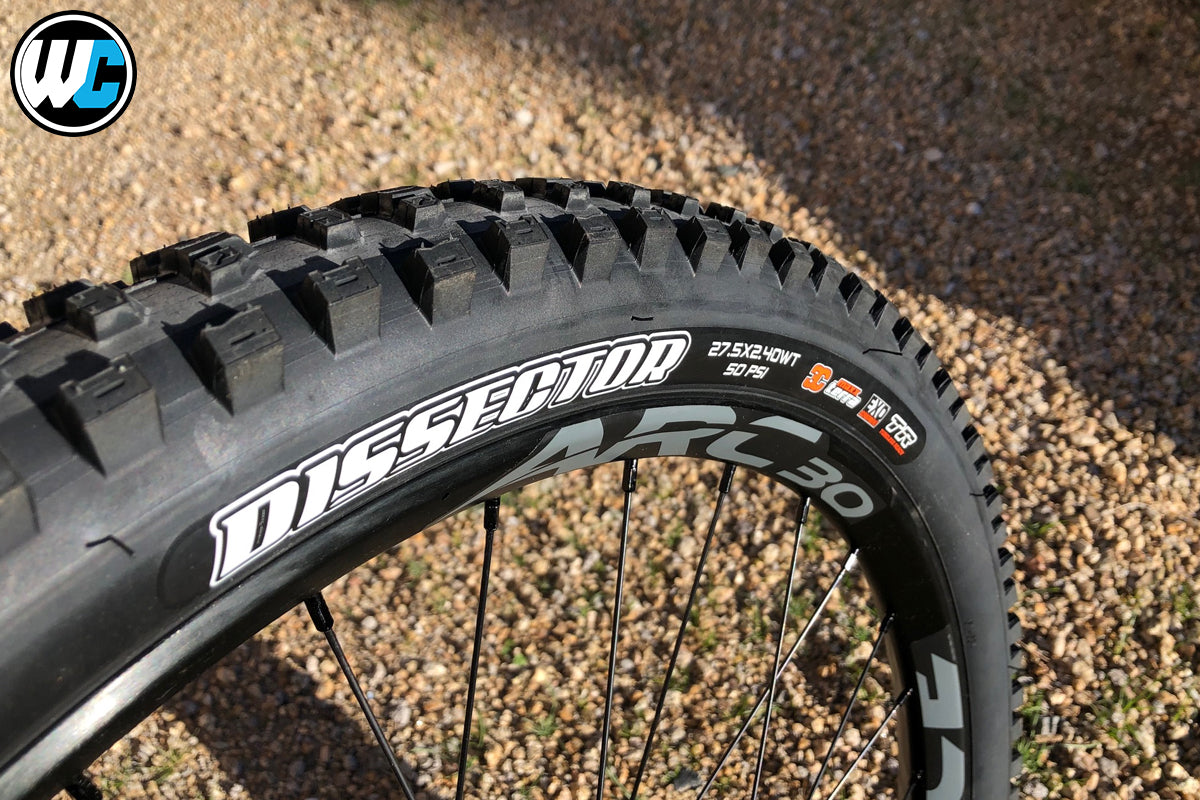 Maxxis Dissector Tire 27.5 x 2.4 with Orange Seal Endurance Sealant Rider Review