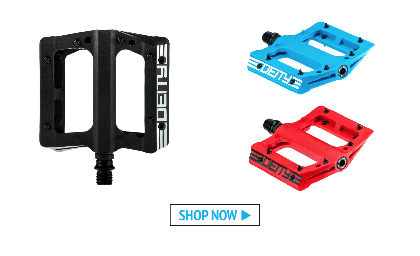 Our Five Favorite Flat Pedals: Deity Compound Pedals - Worldwide Cyclery