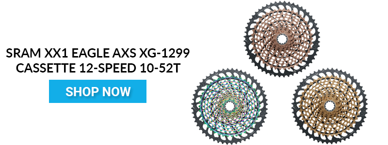 Shop SRAM XX1 Eagle AXS XG-1299 Cassette 12-Speed 10-52t Copper CTA