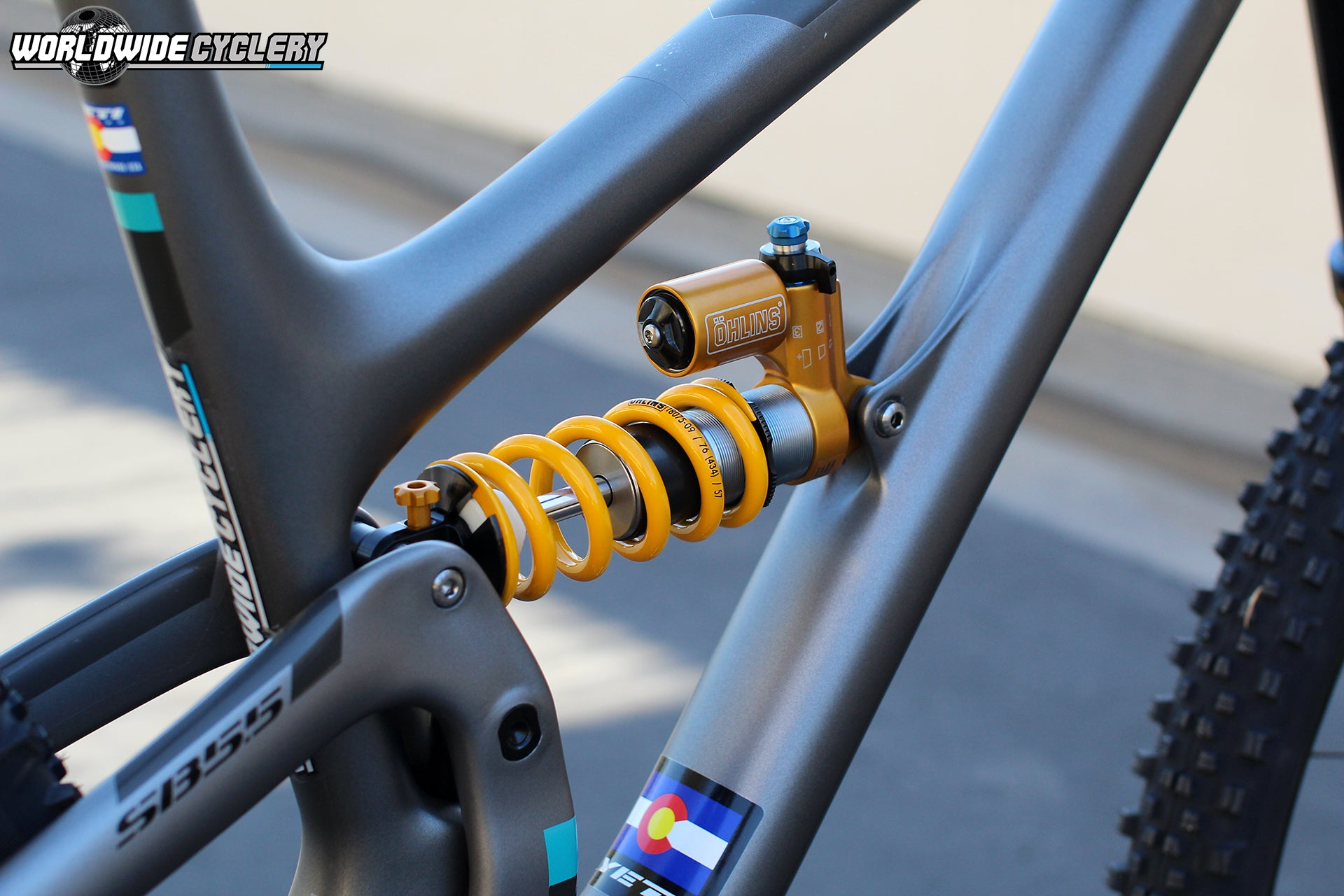 Ohlins TTX22M Coil Rear Bicycle Shock Black / Gold with Lockout