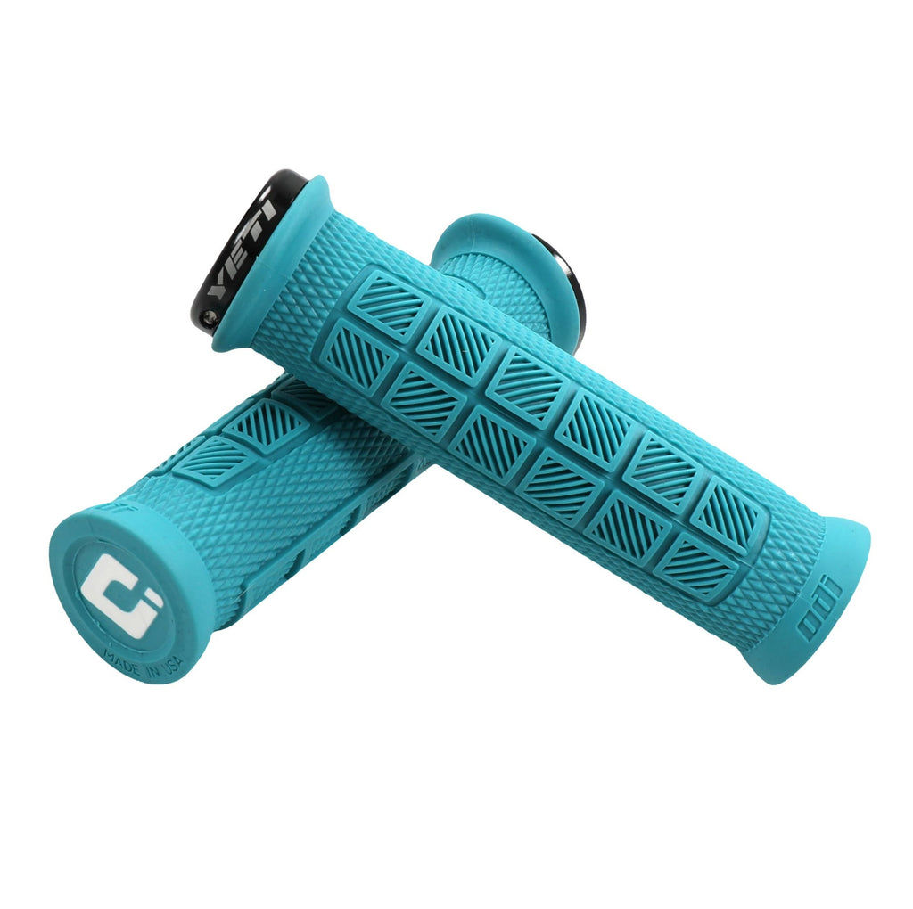Yeti Cycles x ODI Elite Pro Grips - Turquoise, Lock-On