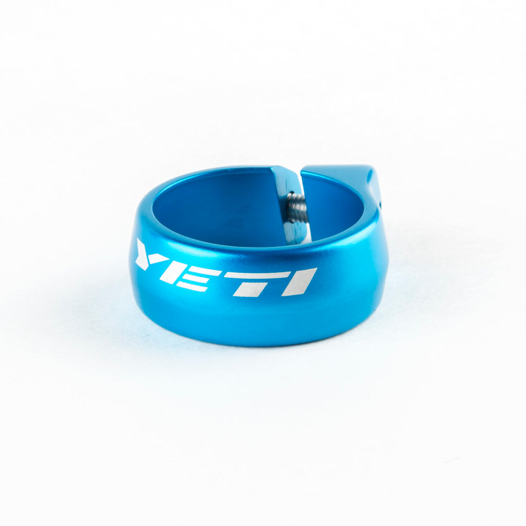 Yeti Seat Clamp 35mm Turquoise Bolt On