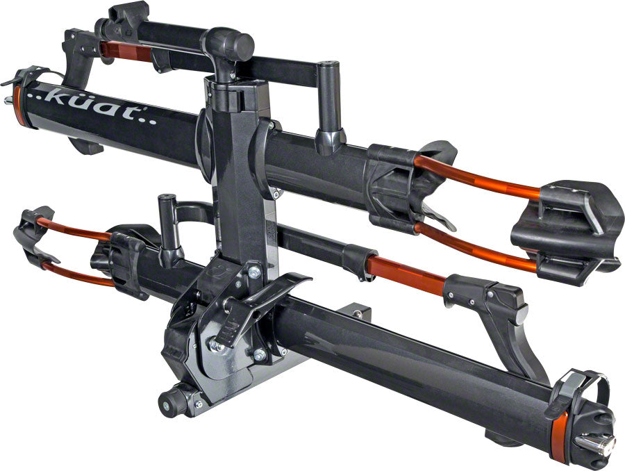 "Kuat NV 2.0 Hitch Bike Rack - 2-Bike, 2"" Receiver, Metallic Gray/Orange - Hitch Bike Rack - NV 2.0 Hitch Bike Rack"