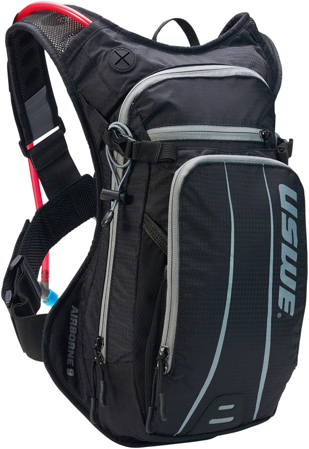 USWE Airborne 9 Hydration Pack - Black/Gray