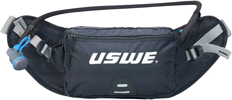 USWE Zulo 2 Lumbar Hydration Pack - Winter Edition, Insulated Tube, Black