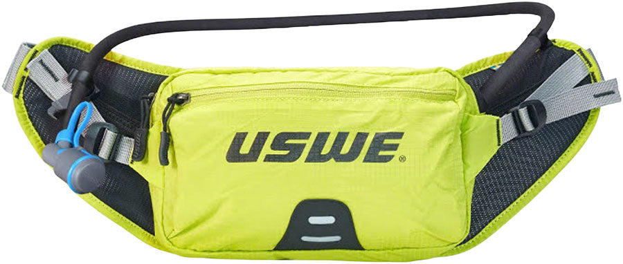 USWE Zulo 2 Lumbar Hydration Pack - Winter Edition, Insulated Tube, Crazy Yellow