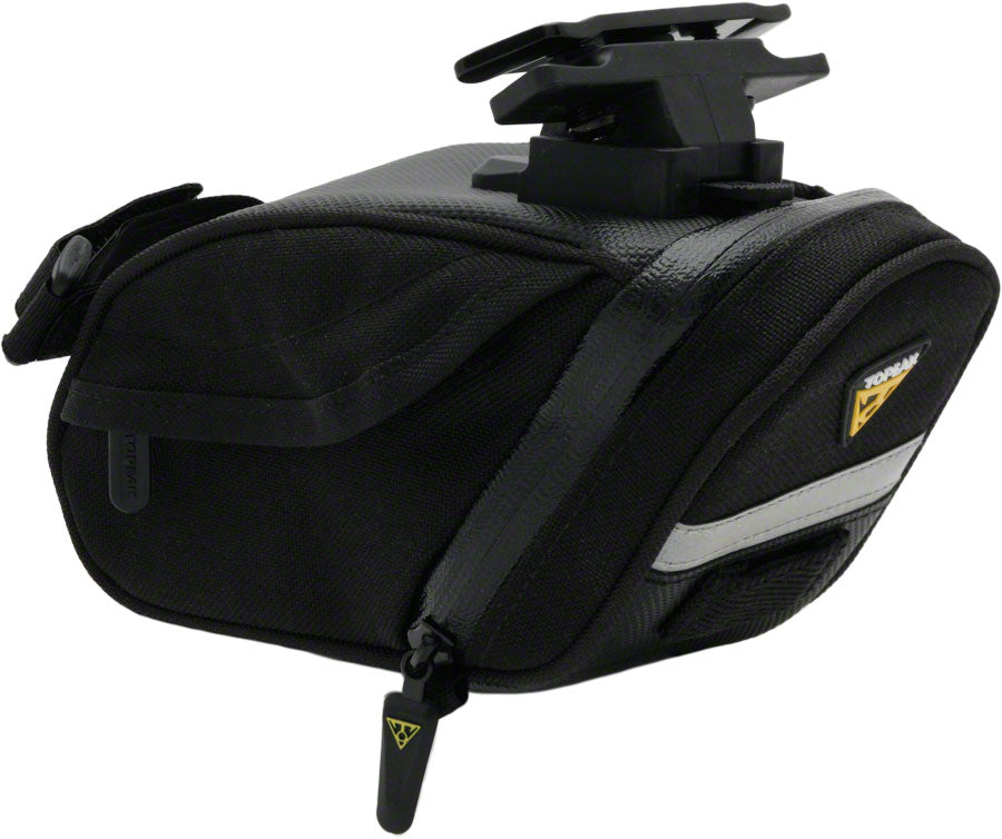 Topeak Aero Wedge DX Seat Bag with Mount: Medium, Black