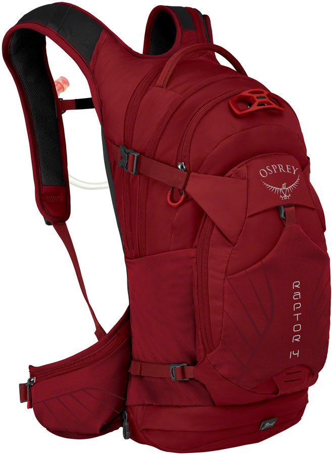 Osprey Raptor 14 Hydration Pack: Wildfire Red