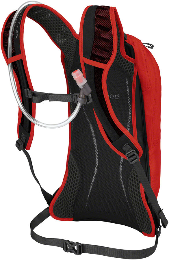 Osprey Syncro 5 Hydration Pack: Firebelly Red