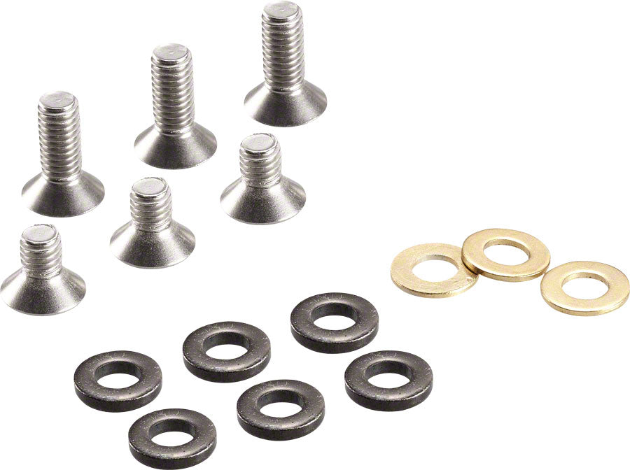 e*thirteen ISCG Bolt kit 10mm/16mm Flat Head Bolts and Chain Line Spacers MPN: BKT.ISCG.FLT Chain Retention System Part ISCG Bolt Kits