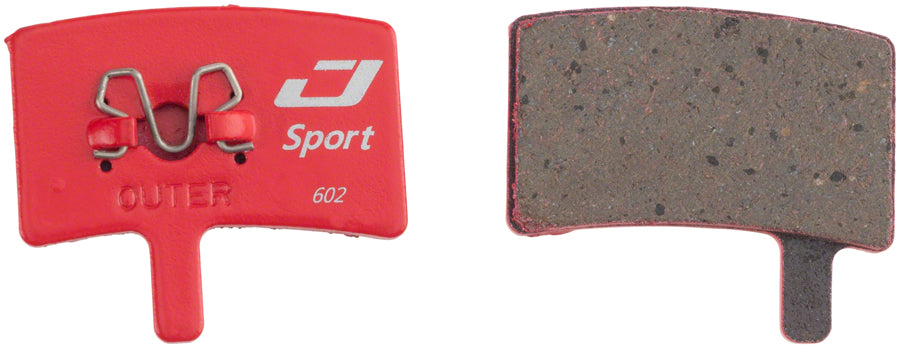 Jagwire Mountain Sport Semi-Metallic Disc Brake Pads for Hayes Stroker Trail, Stroker Carbon, Stroker Gram - Disc Brake Pad - Hayes Compatible