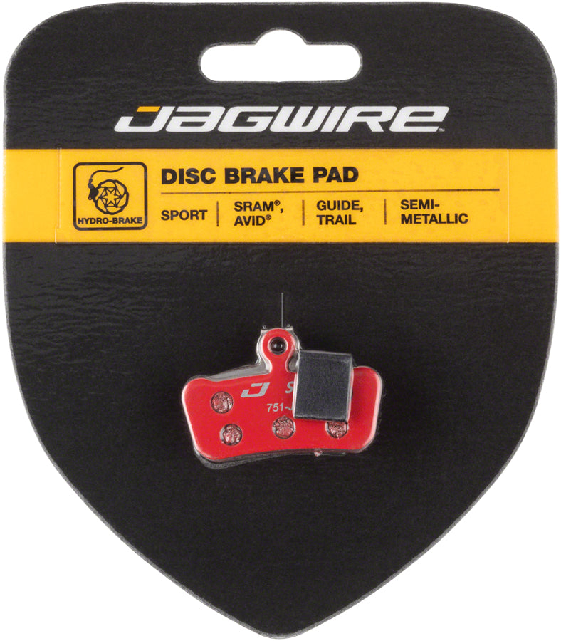 Jagwire Mountain Sport Semi-Metallic Disc Brake Pads for SRAM Guide RSC, RS, R, Avid Trail