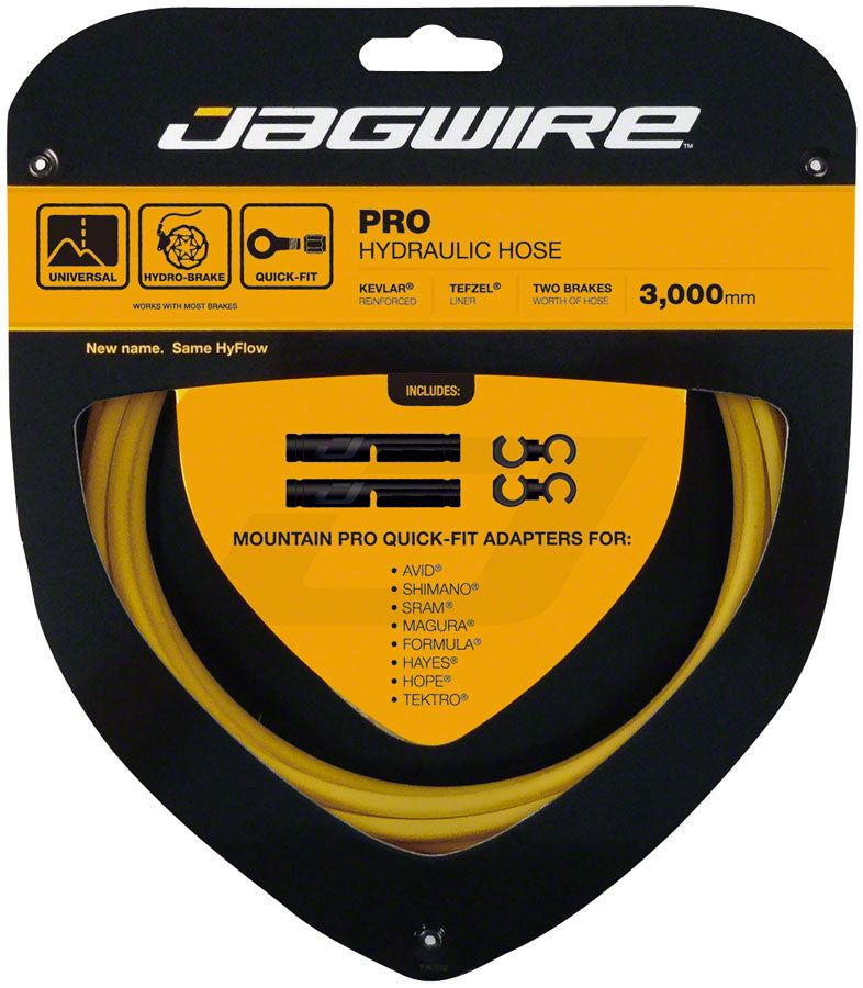 Jagwire Pro Hydraulic Disc Brake Hose Kit 3000mm, Yellow MPN: HBK414 Disc Brake Hose Kit Mountain Pro Hydraulic Hose