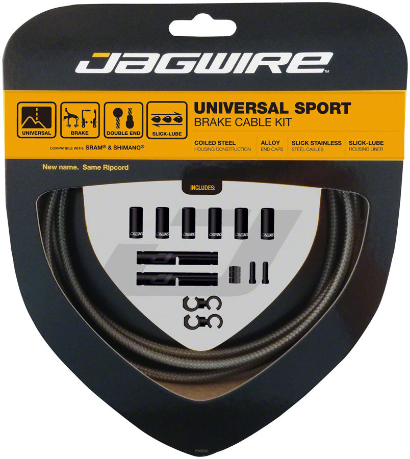 Jagwire Universal Sport Brake Cable Kit, Sterling Silver MPN: UCK426 Brake Cable & Housing Set Universal Sport Brake Kit