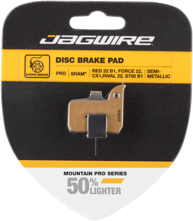 Jagwire Pro Alloy Backed Semi-Metallic Disc Brake Pads for SRAM Red 22 B1, Force 22, CX1, Rival 22, S700 B1, Level