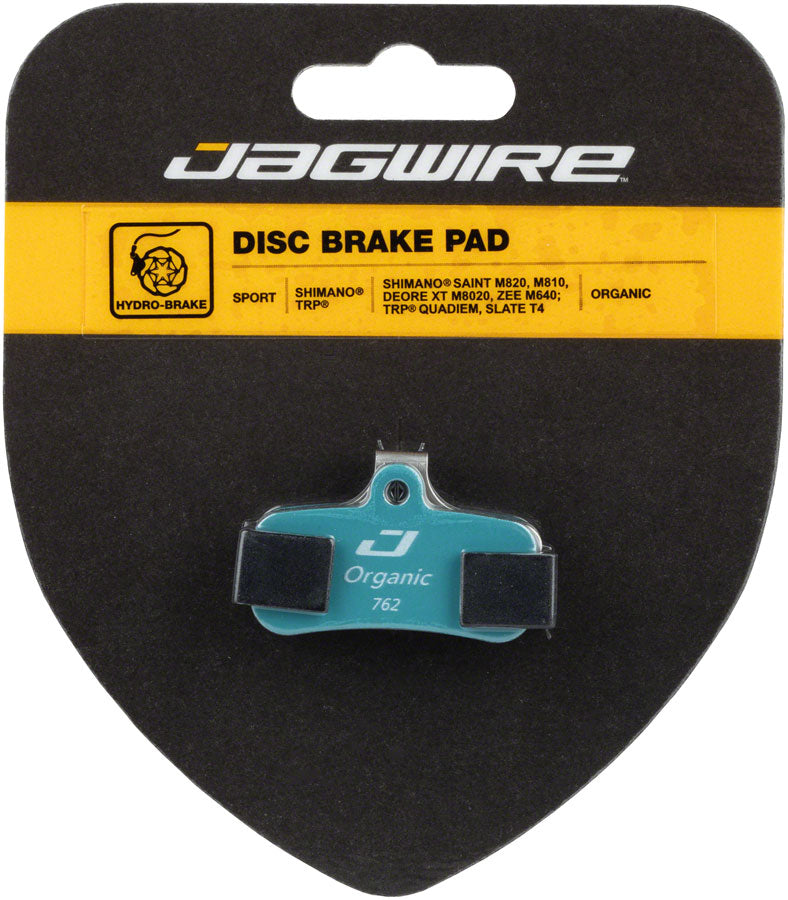 Jagwire Sport Organic Disc Brake Pads - For Shimano Deore XT M8020, Saint M810/M820, and Zee M640 - Disc Brake Pad - Shimano Compatible