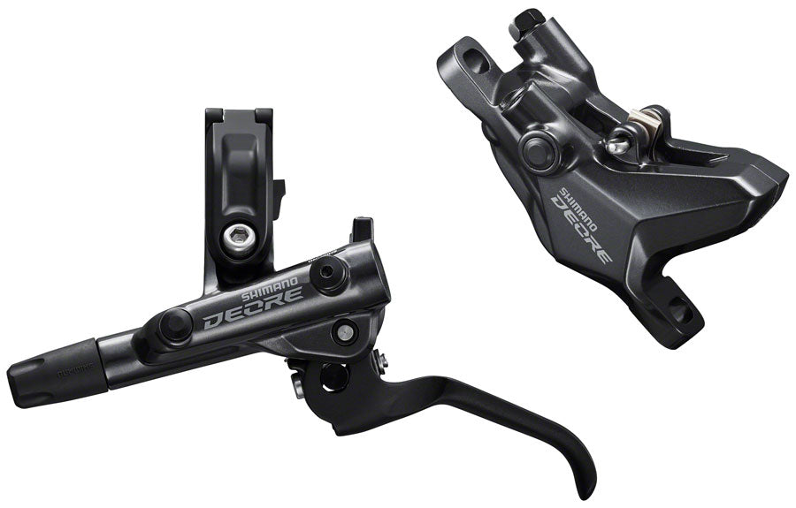 Shimano Deore BL-M6100/BR-M6100 Disc Brake and Lever - Front, Hydraulic, Resin Pads, Gray