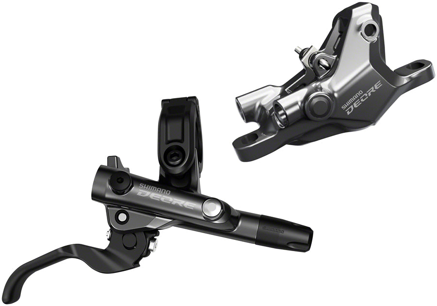 Shimano Deore BL-M6100/BR-M6100 Disc Brake and Lever - Rear, Hydraulic, Resin Pads, Gray