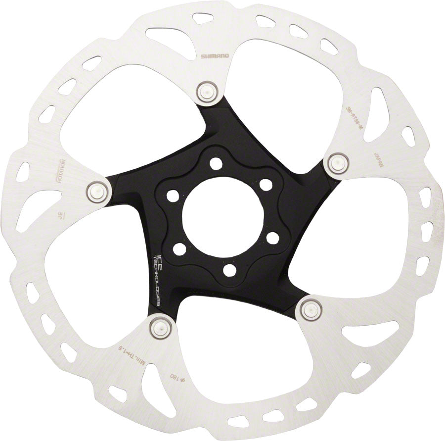 Shimano XT RT86M 180mm 6-Bolt IceTech Disc Brake Rotor with bolts