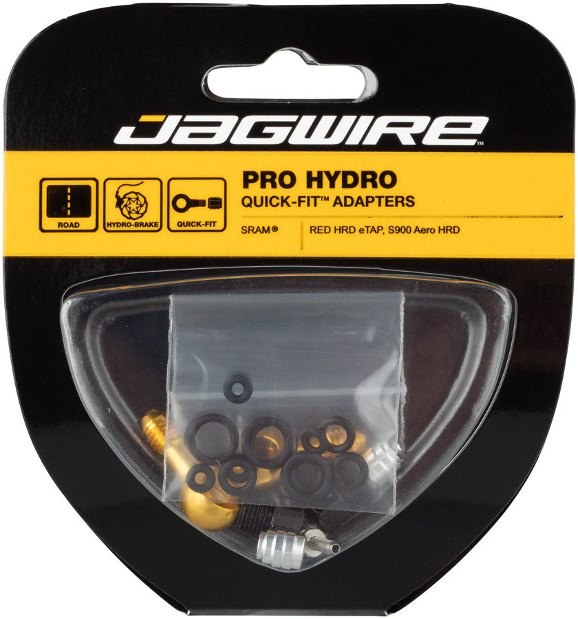 Jagwire Pro Quick-Fit Adapters for Hydraulic Hose - Fits SRAM RED eTap HRD and S900 Aero HRD