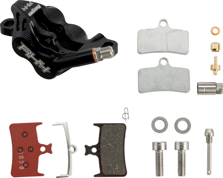 Hope RX 4 Post Mount Complete Caliper: for SRAM Road Hydraulic Disc Brake Levers, Black