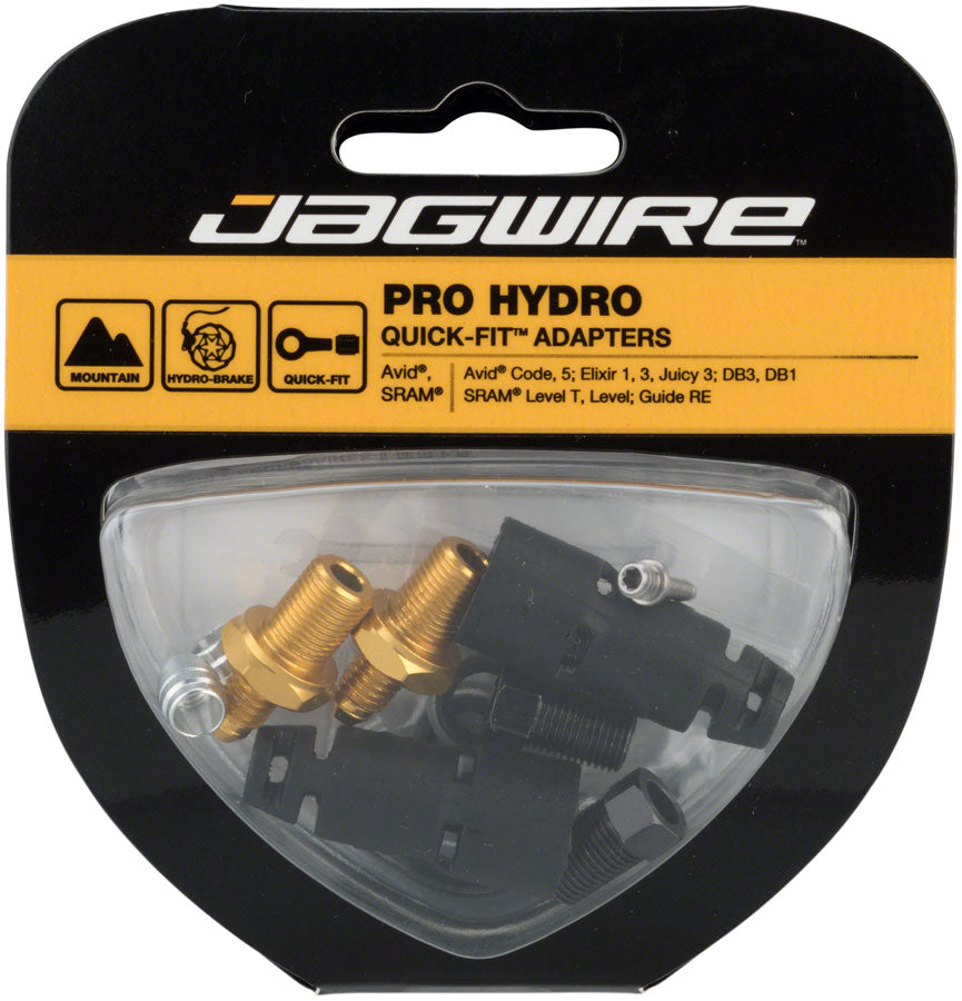 Jagwire Pro Quick-Fit Adapters for Hydraulic Hose - Fits SRAM Guide and Level, and Avid Code, DB, Elixir, and Juicy - Disc Brake Hose Kit - Pro Quick-Fit Adapter Kits for SRAM/Avid