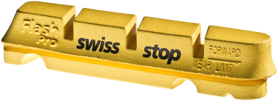 SwissStop FlashPro Set of 4 SRAM/Shimano Rim Brake Inserts, Yellow King Compound MPN: P100001833 Brake Shoe and Pad FlashPro Rim Brake Inserts