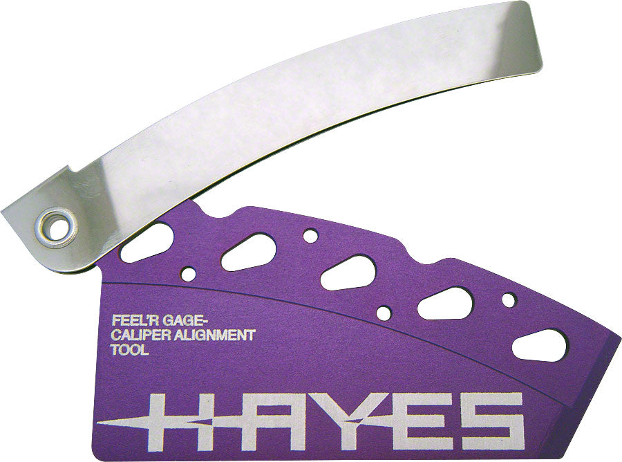Hayes Feel'r Gauge Disc Brake Pad and Rotor Alignment Tool MPN: 98-23972 UPC: 844171030851 Brake Tool Pad and Rotor Alignment Tool