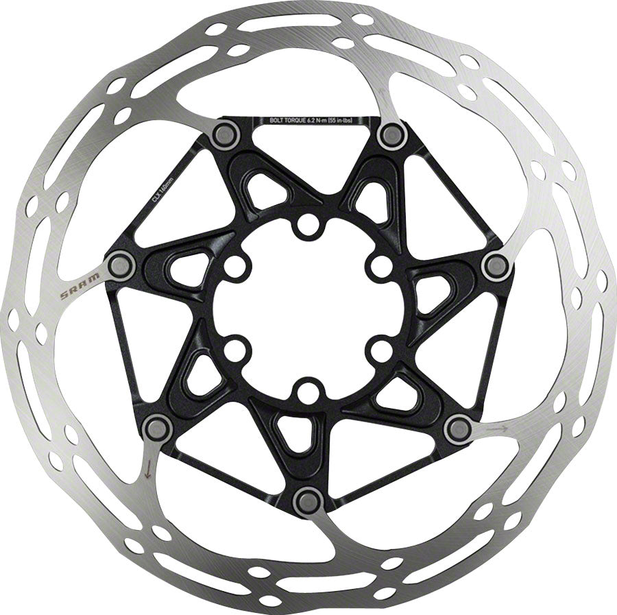SRAM Centerline X Disc Brake Rotor - 180mm, 6-Bolt, Ti Bolts, Silver/Black MPN: 00.5018.037.021 UPC: 710845805592 Disc Rotor CenterLine X 6-Bolt Disc Rotor