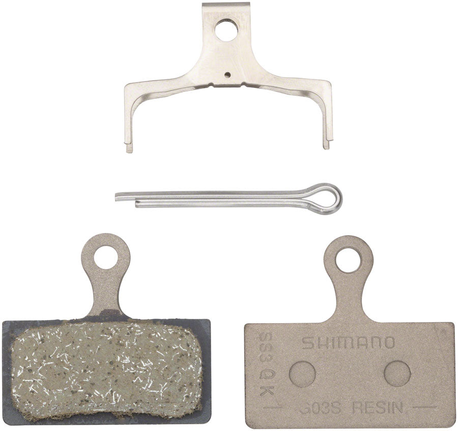 SHIMANO G03S G04S SINTERED COMPOUND STEEL BACKING DISC BRAKE PADS AND SPRING