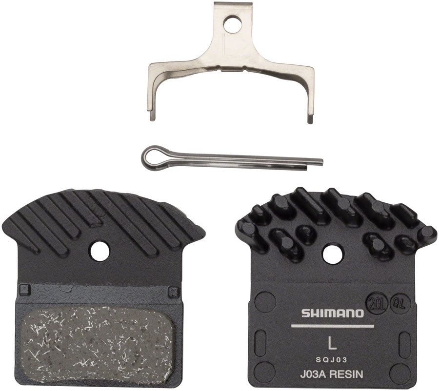 Shimano J03A Resin Disc Brake Pad - Resin, Finned, Fits XTR BR-M9000, XT BR-M8100/BR-M8000, SLX BR-M7100, Deore
