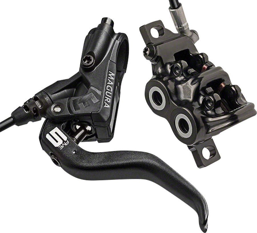 Magura MT5 Disc Brake and Lever - Front or Rear, Hydraulic, Post Mount, Black