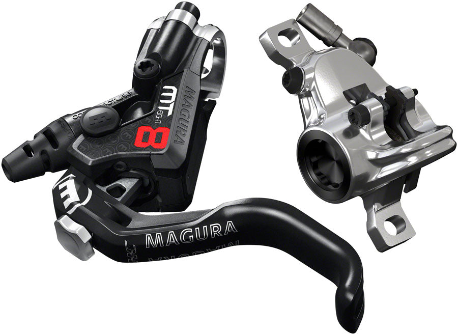 Magura MT8 Pro Disc Brake and Lever - Front or Rear, Hydraulic, Post Mount, Black/Chrome