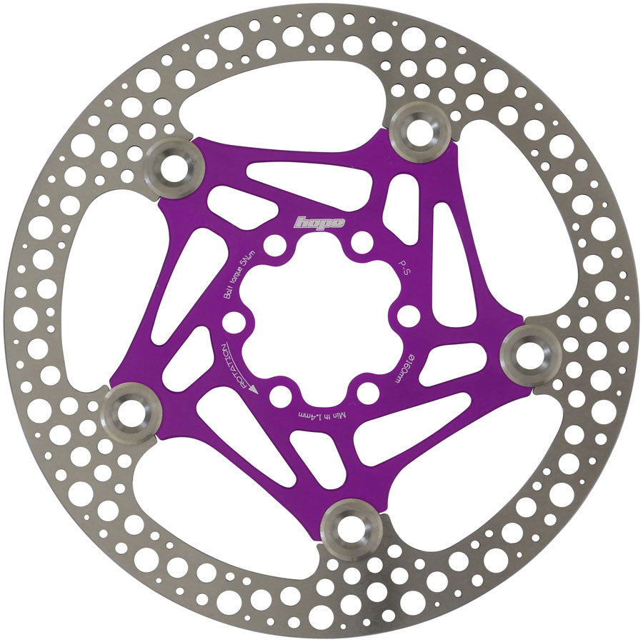 Hope Floating Road Disc Rotor: 160mm Purple MPN: HBSP3611606FPU Disc Rotor Floating Road Disc Rotor