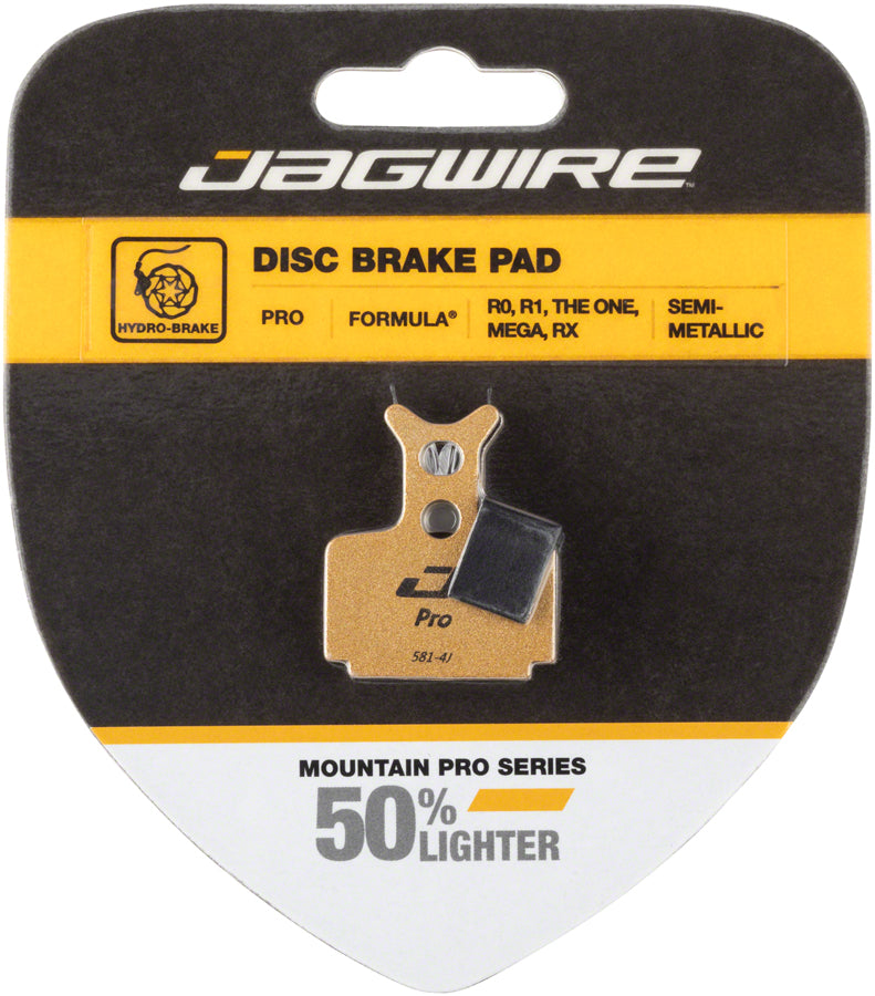 Jagwire Mountain Pro Alloy Backed Semi-Metallic Disc Brake Pads for Formula T1, R1, RX, MEGA, RO MPN: DCA081 Disc Brake Pad Formula Compatible