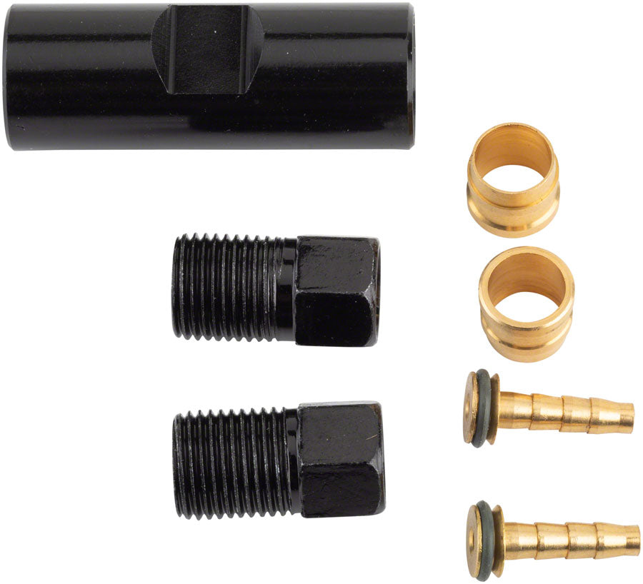 TRP Disc Brake Small Parts - Coupler, Compression Ferrules, Brass Inserts with O-Ring, and Hose Retainer
