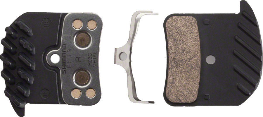 Shimano H03C Metal Pad with Fins & Spring for Saint M820 M810 Zee M640 Calipers