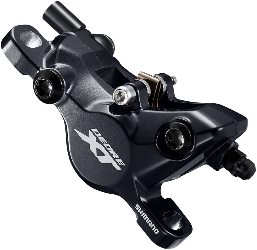 Shimano XT BR-M8100 2-Piston Post-Mount Disc Brake Caliper, Metal Pads with Fins, Black