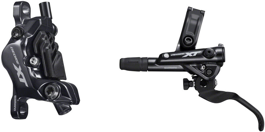 Shimano Deore XT BL-M8100/BR-M8120 Disc Brake and Lever - Front, Hydraulic, Post Mount, 4-Piston, Finned Metal Pads,