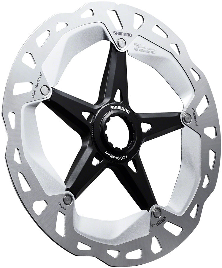 Shimano XT RT-MT800-M 180mm Centerlock Disc Rotor with External Lockring - Disc Rotor - Deore XT RT-MT800 Centerlock Disc Rotor