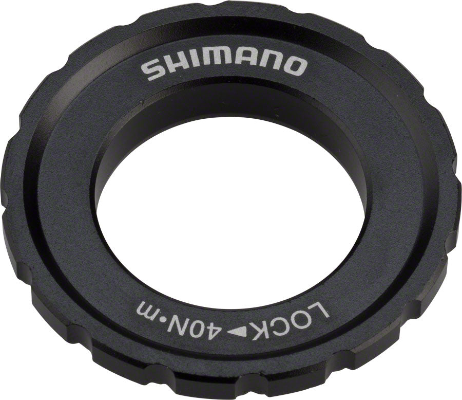 Shimano XT M8010 Outer Serration Centerlock Disc Rotor Lockring, for use with 12/15/20mm Axle Hubs
