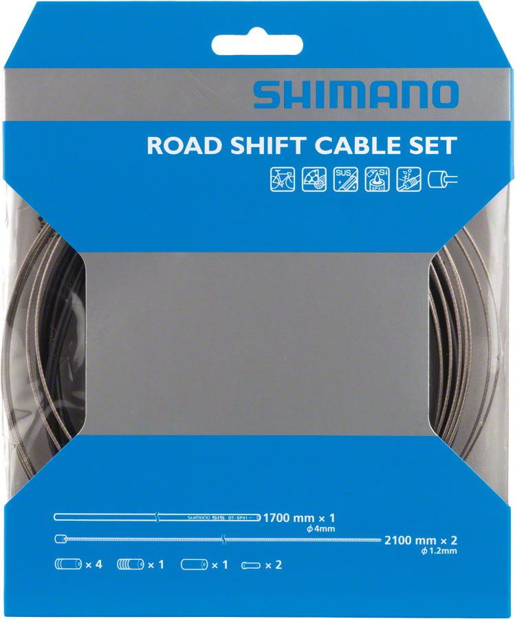 Shimano Road Stainless Derailleur Cable and Housing Set, Black MPN: Y60098022 UPC: 689228602892 Derailleur Cable & Housing Set OT-SP41 Stainless