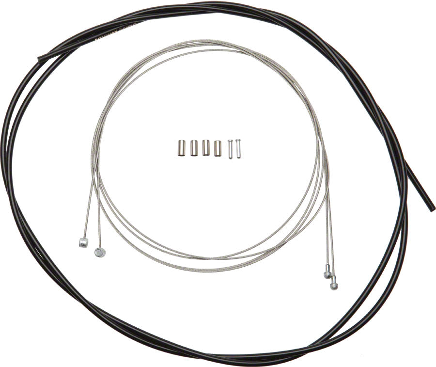 New Shimano Front and Rear Road//MTB Brake Cable and Housing Set Black