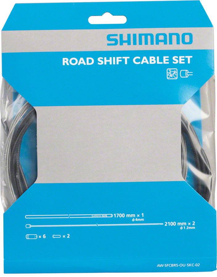 Shimano Road SP40 Derailleur Cable Set, Black - Derailleur Cable & Housing Set - OT-SP40 Standard