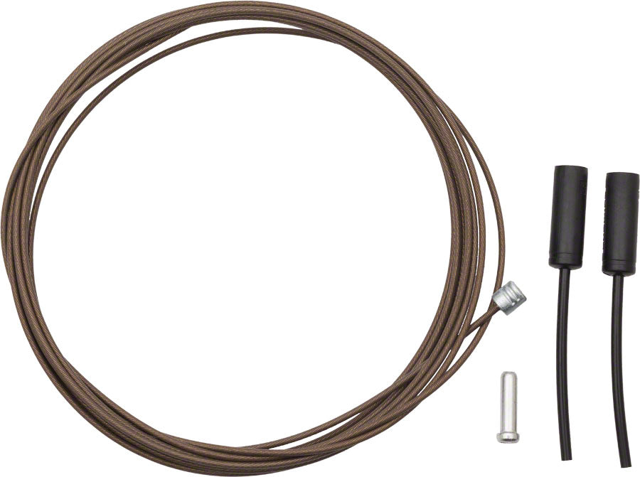 Shimano Dura-Ace Polymer-Coated Stainless Steel Derailleur Cable 1.2 x 2100mm MPN: Y63Z98950 UPC: 689228317161 Derailleur Cable Polymer
